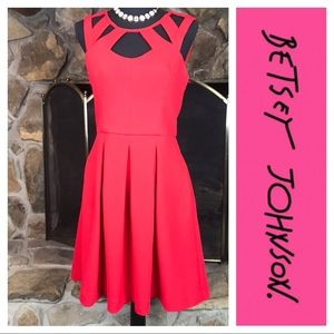 Betsey Johnson | Cut Out Dress | Red | 10